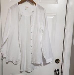 Eileen fisher organic linen button down shirt